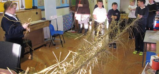 Making the long rope at Iochdar